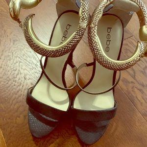 Bebe Snake Ankle Stilettos